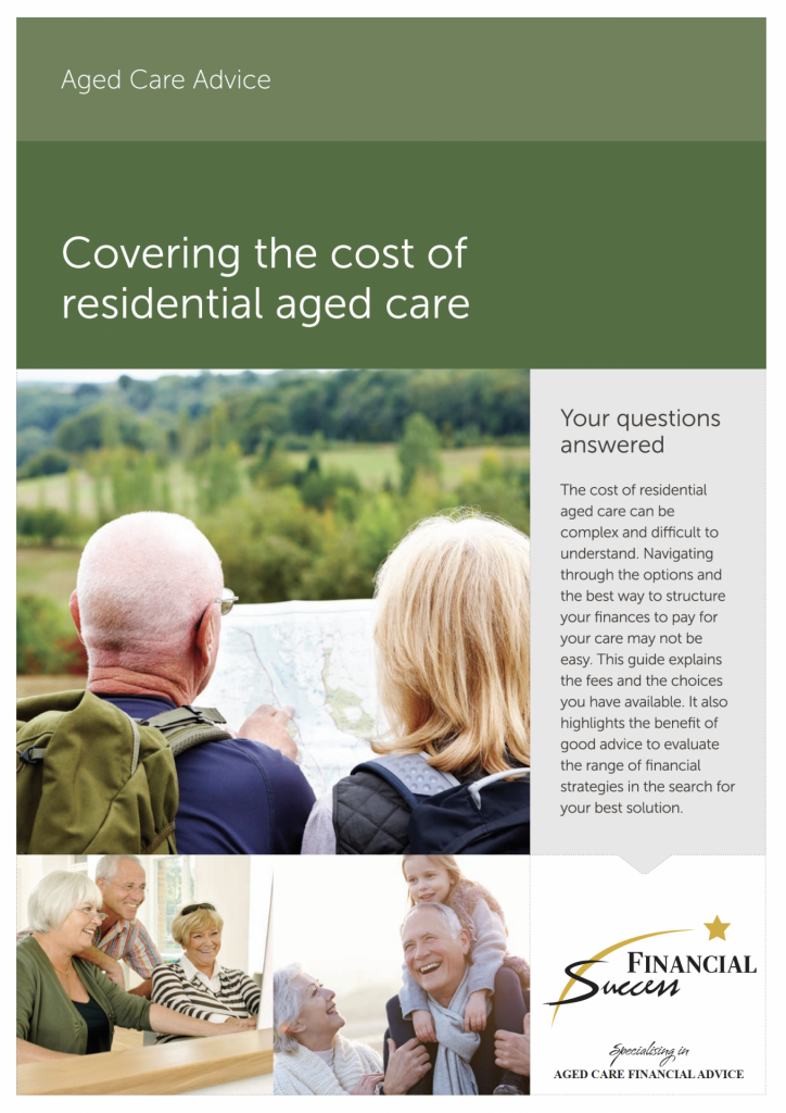 Covering the cost of residential aged care